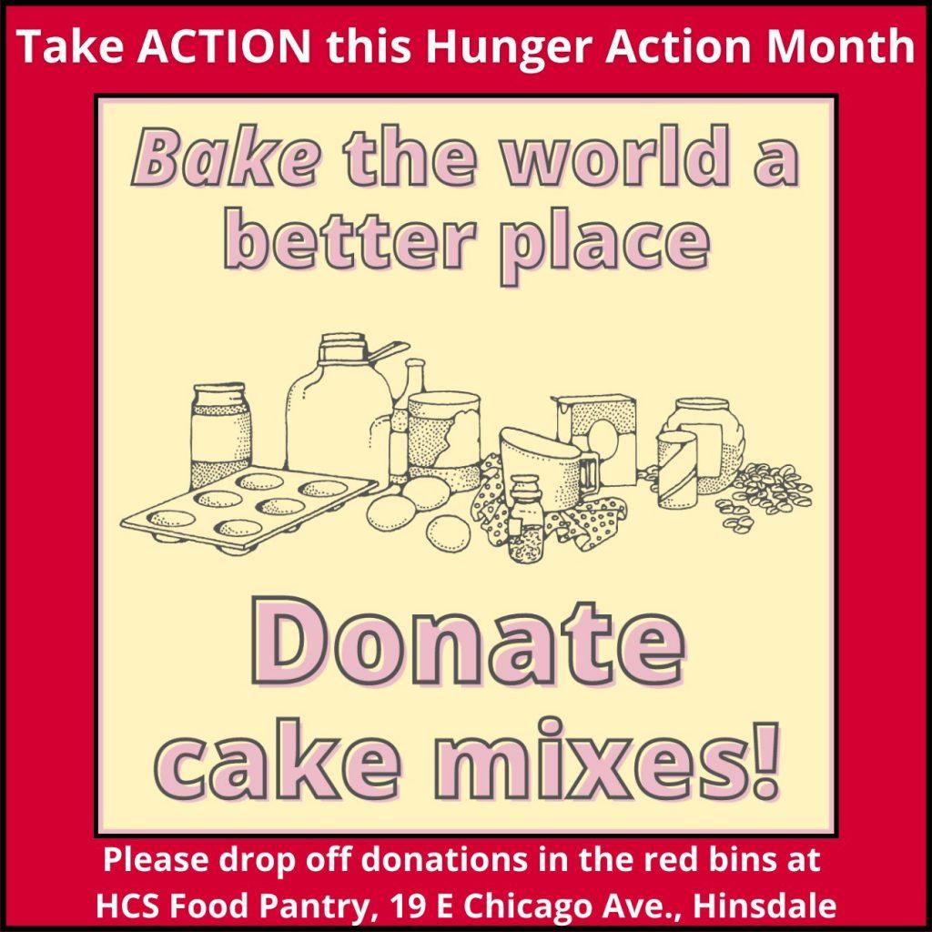 Donate cake mixes