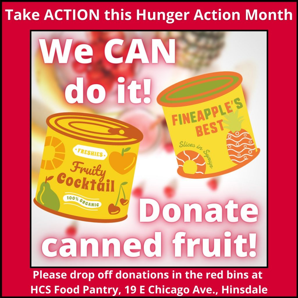 Donate canned fruit