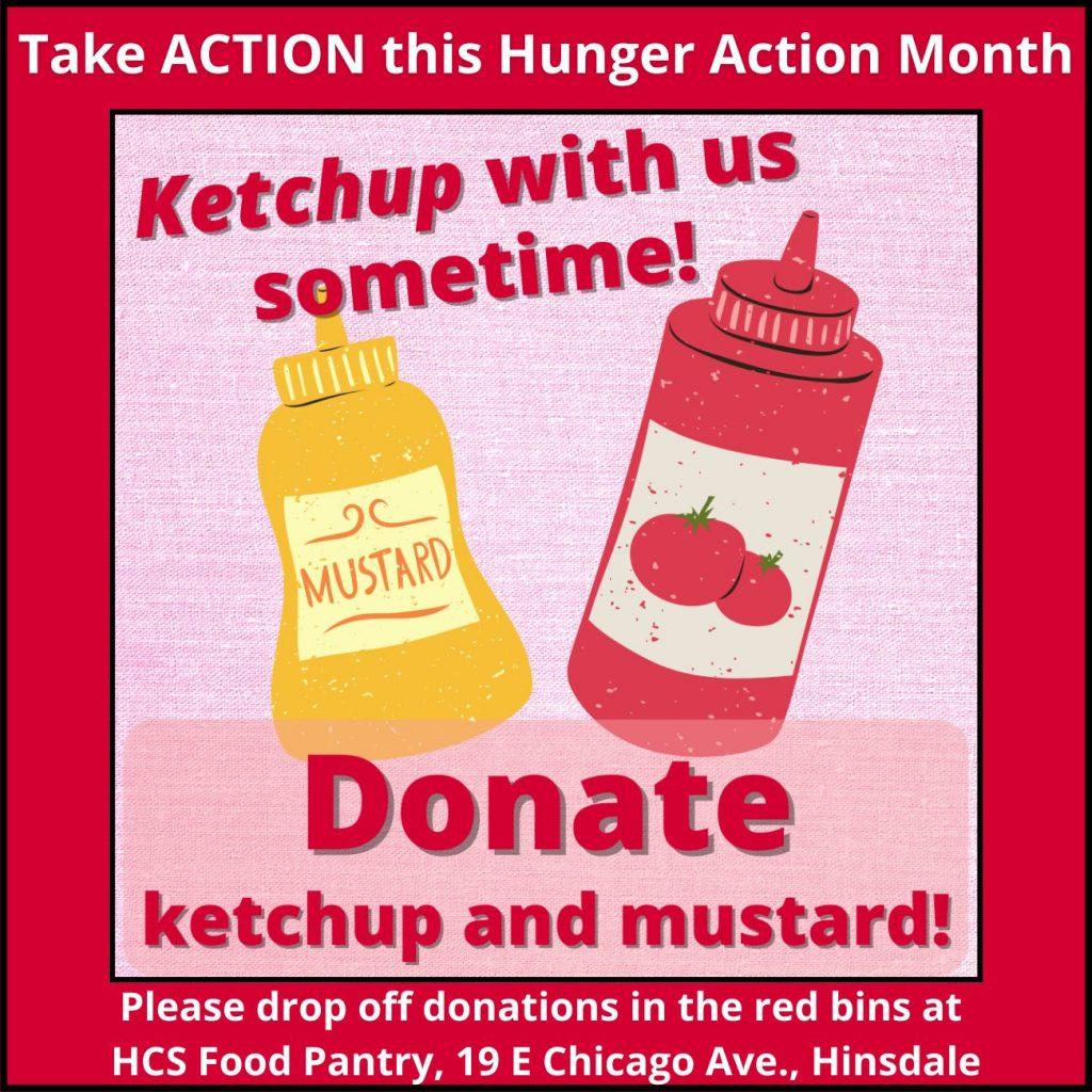 Donate ketchup and mustard