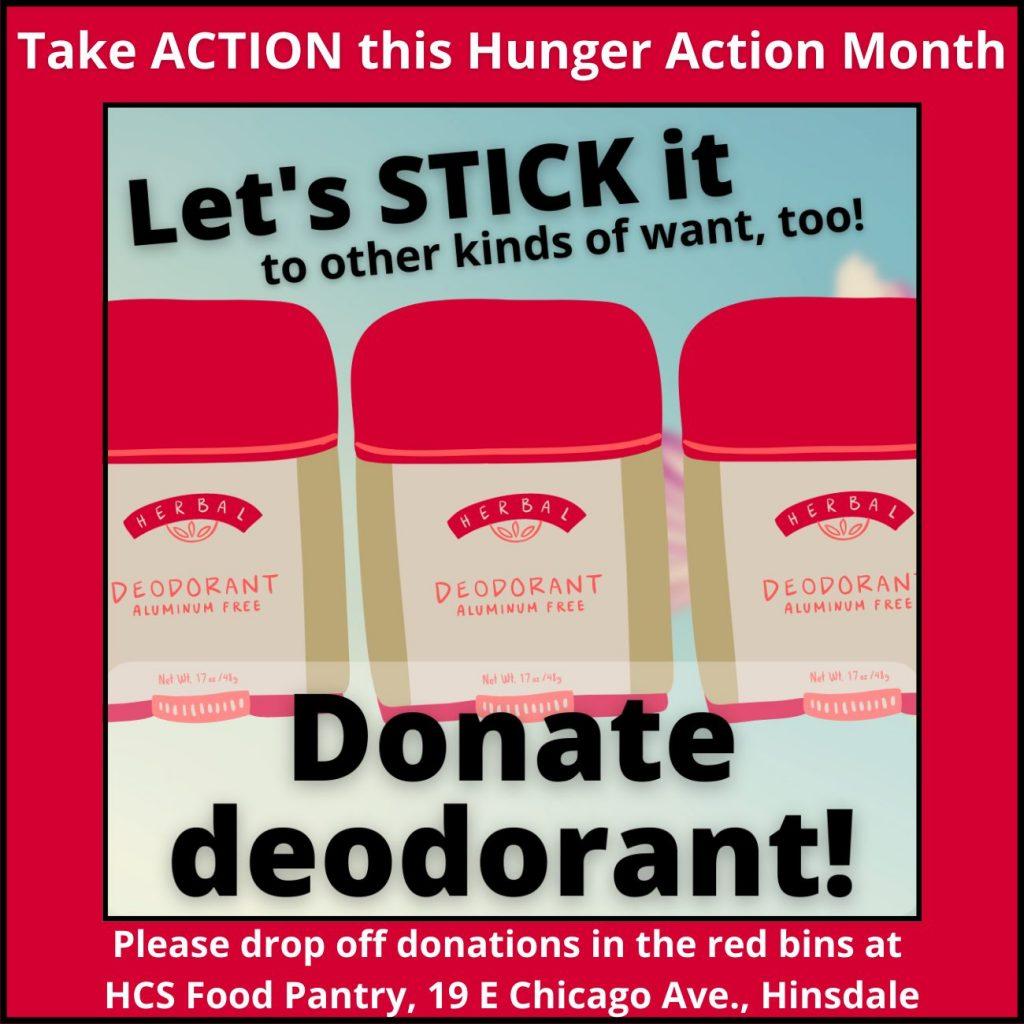 Donate deodorant
