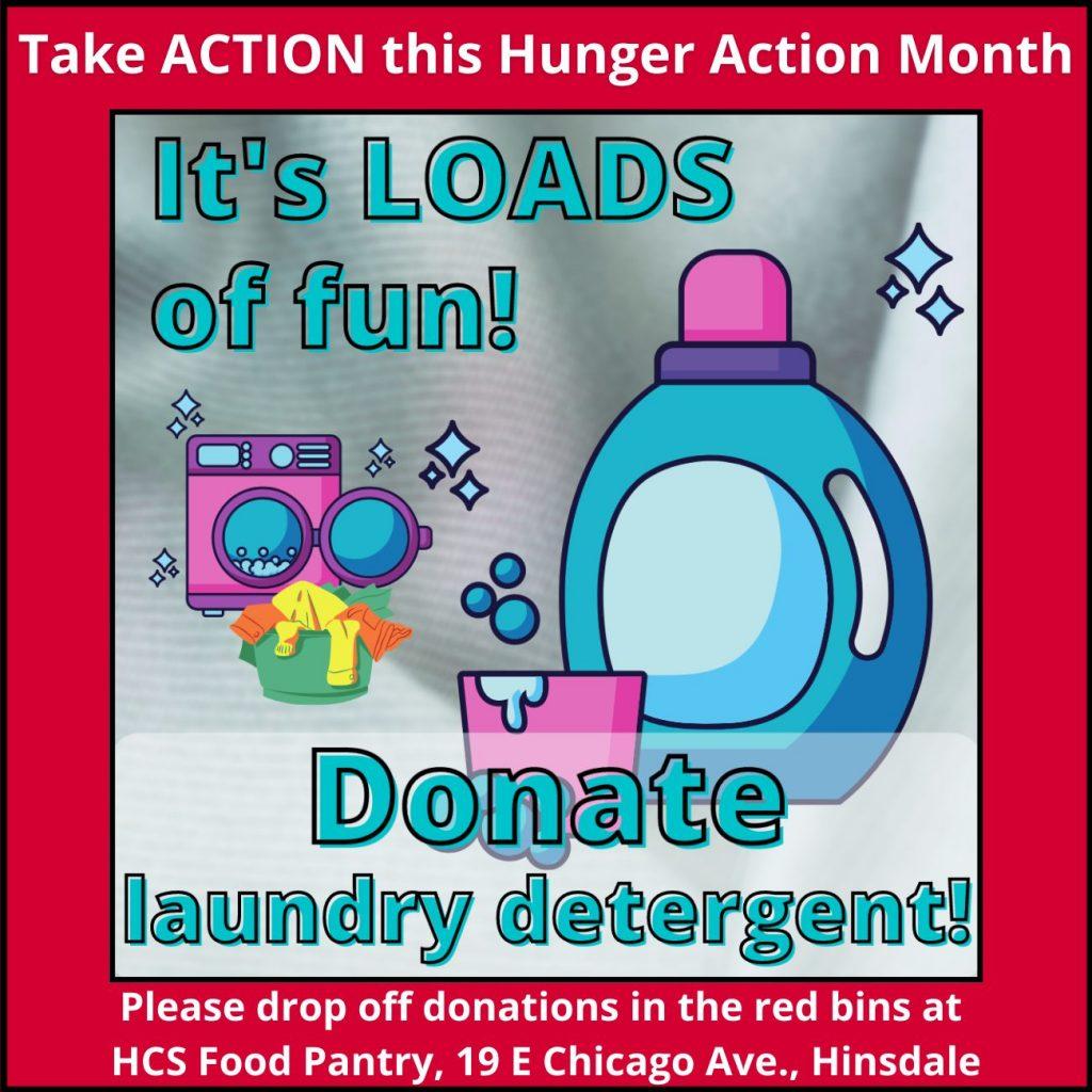 Donate laundry detergent